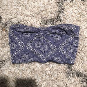PacSun blue paisley print bandeau